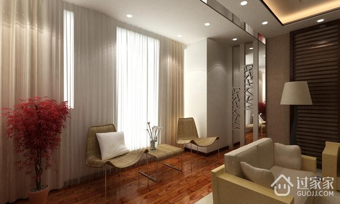 100平简约三室两厅案例欣赏卧室窗帘