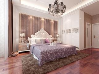 79平简欧两居室欣赏卧室背景墙