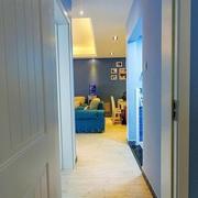 112平蓝色地中海住宅欣赏过道吊顶