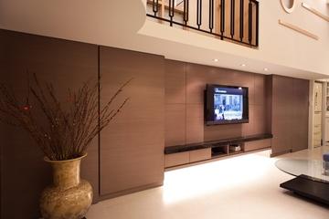 现代简约风格装修套图电视墙