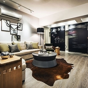 简约黑白原味空间设计客厅效果