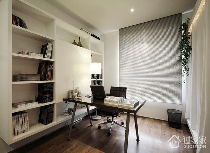 时尚简约三居室 精致书房书架装修效果图