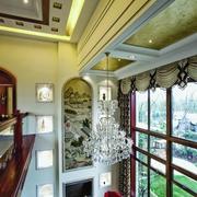 中式风家居设计客厅吊顶吊灯设计