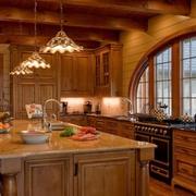 美式风格别墅效果图厨房橱柜