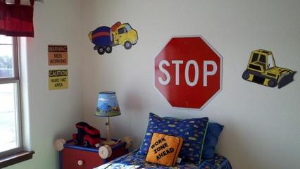 简约风格别墅效果图儿童房背景墙