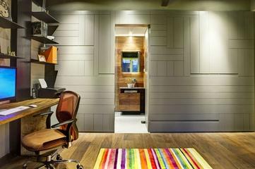 现代彩色丛林住宅欣赏书房