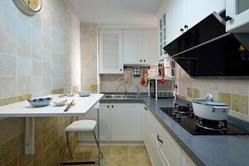 78平绿色美式住宅欣赏厨房