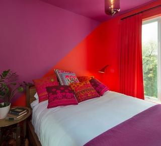 大胆用色北欧一居欣赏卧室