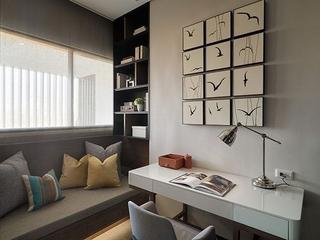 76平现代风两居室欣赏书房飘窗