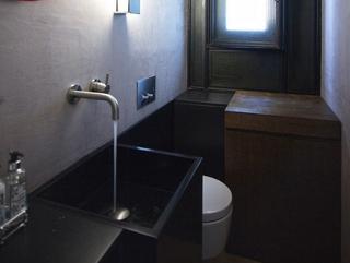 灰色空间现代住宅欣赏卫生间摆件