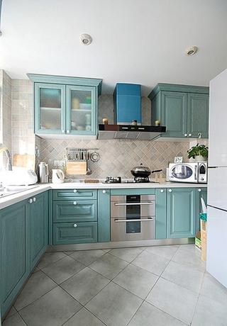 110平蓝色地中海住宅欣赏厨房