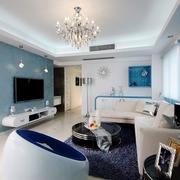 现代设计三居效果图欣赏客厅