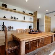 原木餐厅与储物柜
