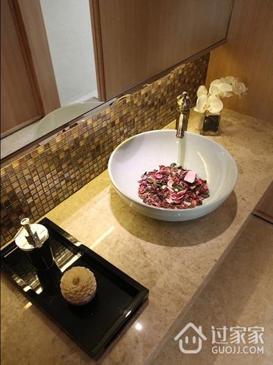 典雅别致卫生间洗手盆效果图 低调奢华风