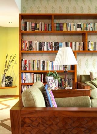 89平田园风格三居欣赏客厅局部设计