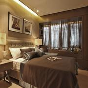 现代简约卧室灯饰效果图 温馨美居