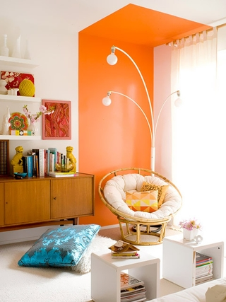橙色浪漫家居欣赏客厅