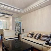 60平简约公寓设计欣赏客厅吊顶