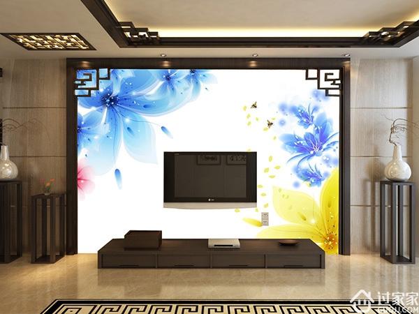 电视墙的世纪难题,壁纸好还是壁画好?你怎么选?