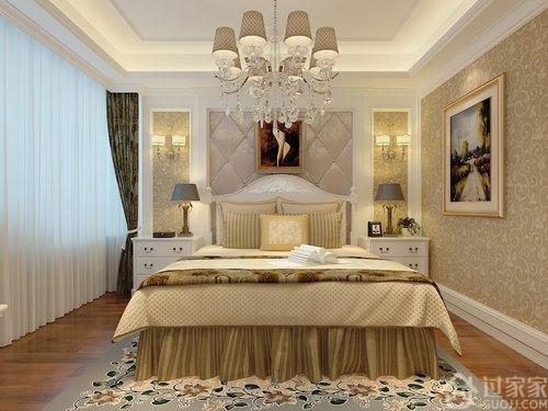 202m²简欧风格,五居室家庭样板间效果图设计