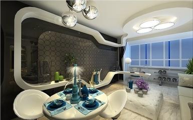 110平奢华空间住宅欣赏餐厅