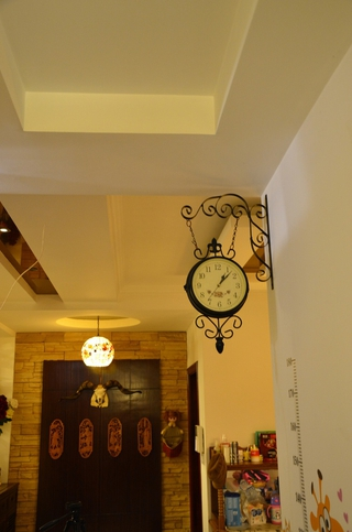 美式乡村风格住宅欣赏玄关灯饰