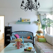 轻松舒适田园住宅欣赏客厅效果