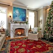 美式装饰风格复式设计客厅背景墙设计