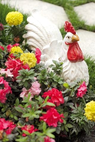 田园风格效果花园雕塑