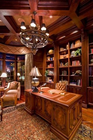 美式奢华别墅装饰赏析书房设计