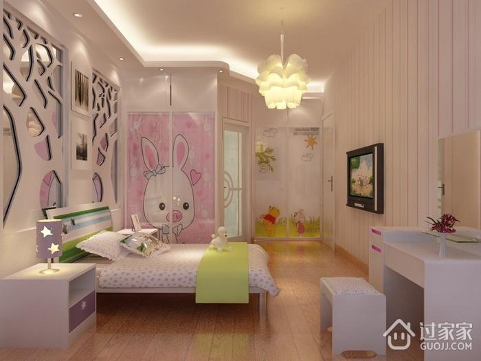 温馨新中式雅居欣赏儿童房灯饰