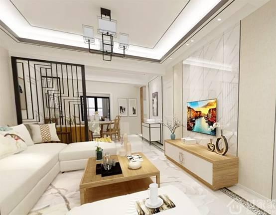 【黑科技】晒晒我二哥的家,108㎡四居室新中式风VR效果图设计
