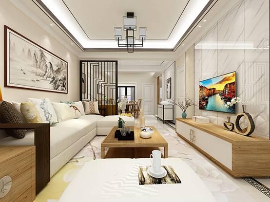 【黑科技】曬曬我二哥的家,108㎡四居室新中式風VR效果圖設計