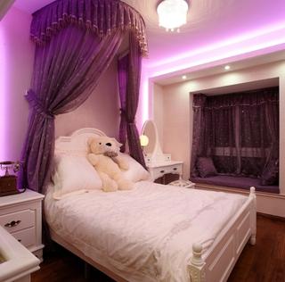 120平奢华简欧复式欣赏卧室