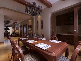 美式风格案例效果图欣赏餐厅效果