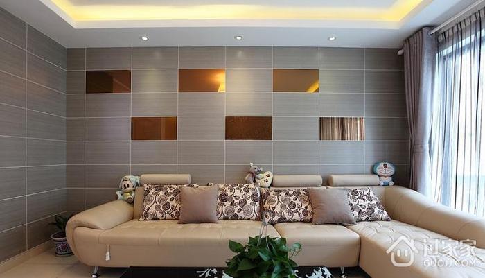 瓷砖拼贴型客厅背景墙优缺点分析