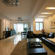 简约雍雅三居室欣赏客厅吊顶设计