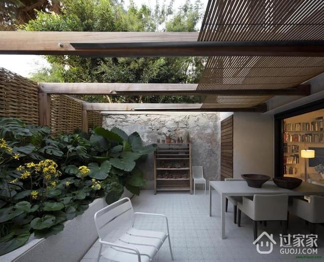 精装68平简约复式楼欣赏庭院