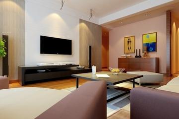 简约舒适案例两居欣赏客厅背景墙