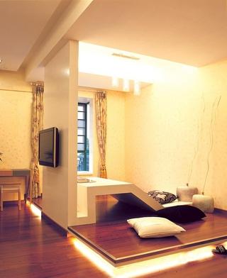 简约舒适三室两厅效果图欣赏过道