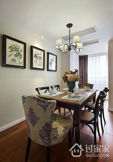 97平美式三居室欣赏餐厅餐桌