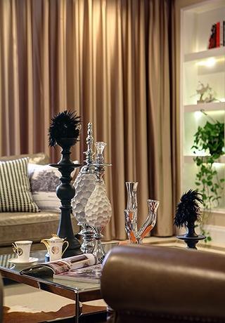 新古典雅致三居欣赏客厅窗帘
