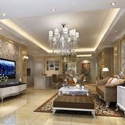 奢华欧式客厅灯饰展示效果图