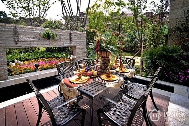 116平美式风格住宅欣赏露台