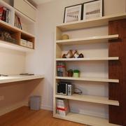 书房书架装修效果图 简约温馨三口之家