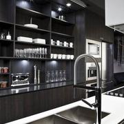 现代暗色调高端住宅欣赏厨房