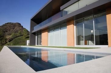 现代简约风别墅设计图泳池设计