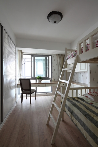 清新蔚蓝美式复式欣赏儿童房