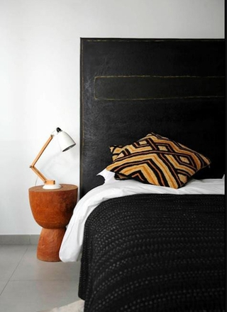 宁静气质黑白公寓欣赏卧室效果