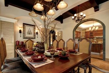 120平典雅混搭住宅欣赏餐厅